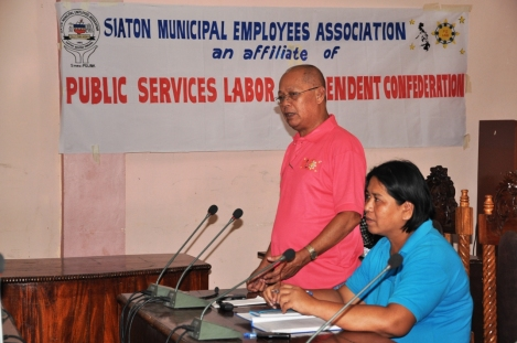 Siaton LGU union mtg Feb 6 2014 1